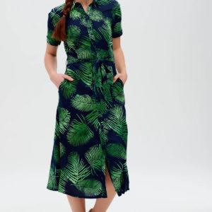 Lauretta Batik Shirt Dress - Navy, Palm Fronds-D0561_LAURETTABATIKSHIRTDRESS_1_1800x1800 copy(1)