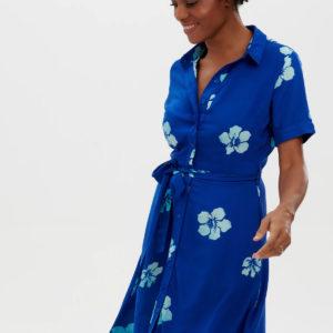 Abby Batik Shirt Dress - Blue, Hawaiian Flowers-D0613_ABBYBATIKSHIRTDRESS_2_1800x1800 copy
