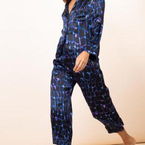 Enya PJ Set in Blue Alligator-ENYA-BLUALI 3