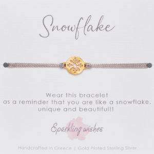 LUCKY BRACELET-ROUND-SNOWFLAKE-LUCKY-CHARM
