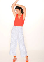 TROUSERS BLUE STRIPES-buttoned-dress-pink-stripes