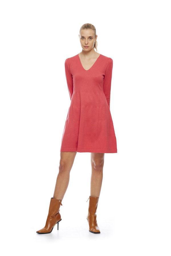 KNITTED DRESS-dressred1