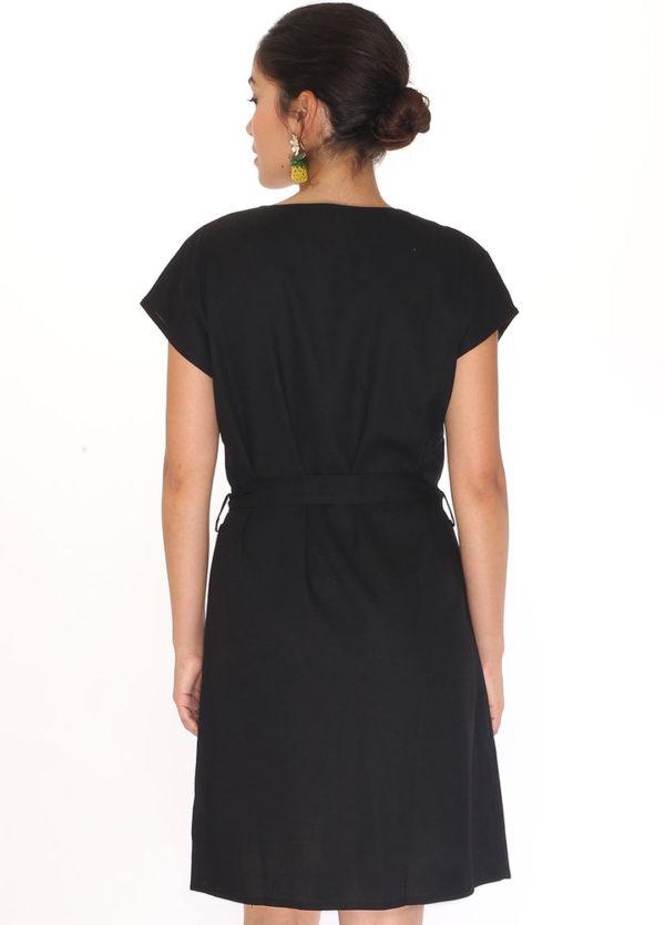 linen-round-neck-dress-black2