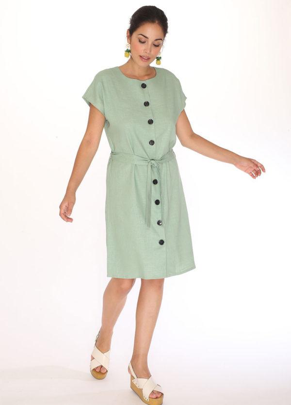 LINEN ROUND NECK-linen-round-neck-dress-green