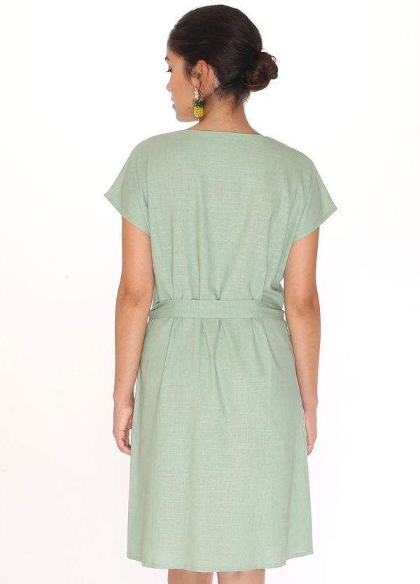 linen-round-neck-dress-green2