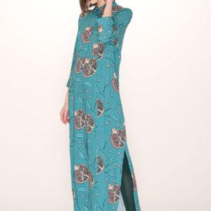 POMEGRANADE PRINT LONG DRESS-pomegranate-print-long-dress