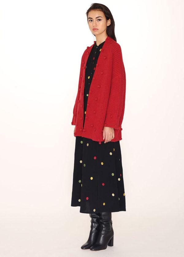 pompom-cardigan-red