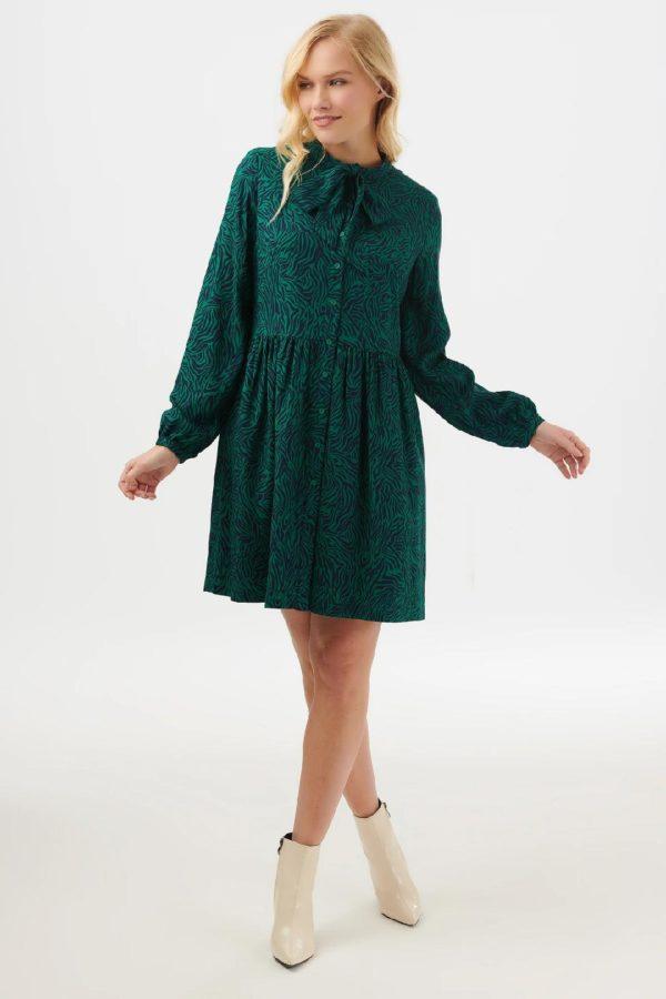 Winna Wild Nights Smock Mini Dress-thumbnail SUGARHILL 20 1